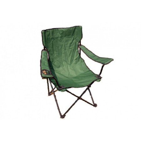 Campinková skládací židle s textilním potahem, ocelový rám