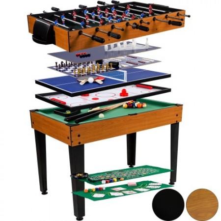 Multifunkční herní stůl 15 v 1 hnědý korpus