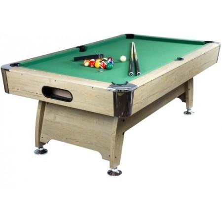Velký kulečníkový stůl 8ft s dřevěným dekorem vč. příslušenství