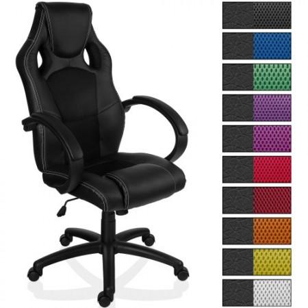 Otočná kancelářská židle, sport. design, černá