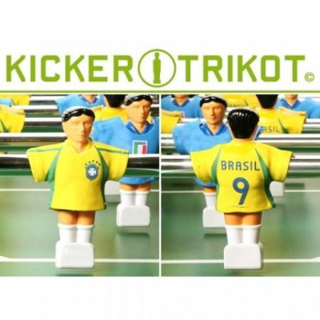 11 ks fotbalových dresů pro figurky stolního fotbalu - Brazílie