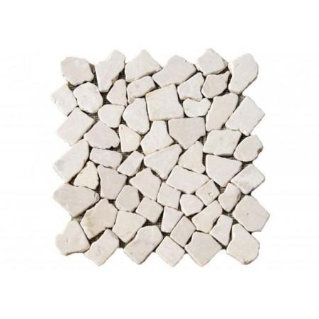 Obklad / dlažba - mozaika z přírodního kamene krémová, 1 ks