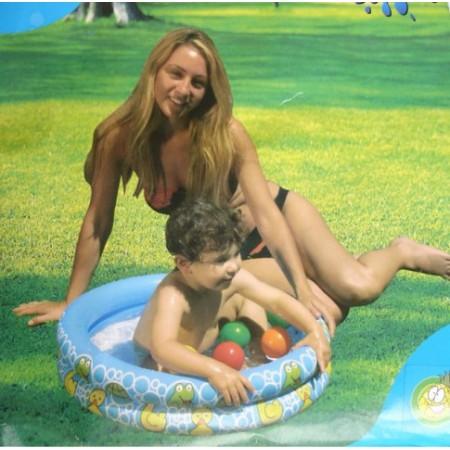 Dětský nafukovací bazén, 2 komory, 61 x 15 cm, do 3 let