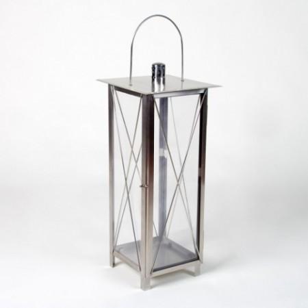 Ozdobná lucerna na svíčku, kovová, 65 cm