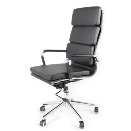 Elegantní kancelářská otočná židle s chromovaným rámem