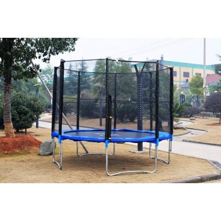 Velká zahradní trampolína se sítí 429 cm, nosnost 150 kg