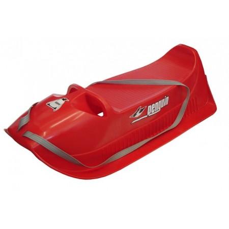 Plastové sáně červené, nosnost 40 kg