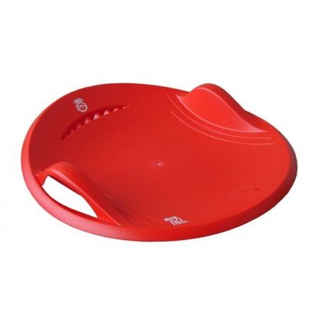 Klouzací talíř na sníh, průměr 60 cm, červený