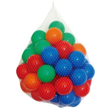 Plastové hrací míčky barevné, 100 ks