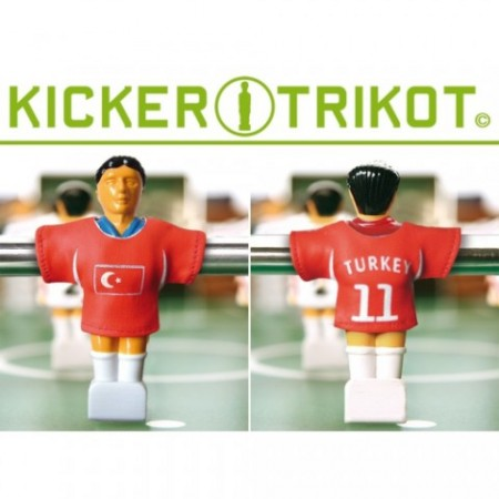 Dresy na figurky pro stolní fotbal, 11 ks, Turecko