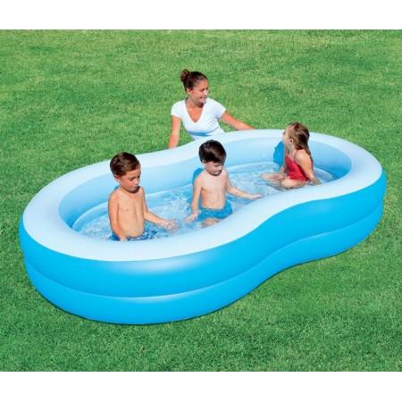 Velký oválný nafukovací bazén, 2 komory, 262x157 cm