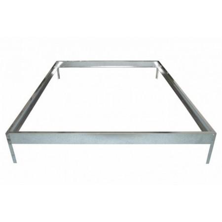 Ocelový rám (základna) pod skleník, pozink, 315 x 190 x 12 cm
