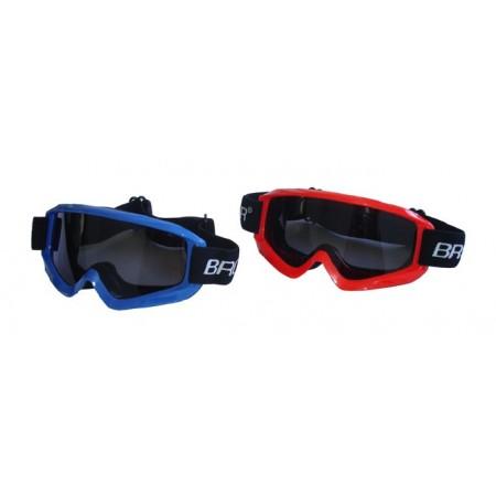 Dětské lyžařské brýle s úpravou proti mlžení, modrá, červená