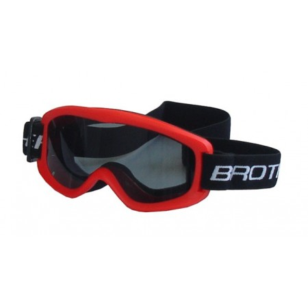 Dětské lyžařské brýle, antifog úprava, UV filtr, červené