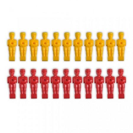 22 ks náhradní figurky pro stolní fotbal, pro tyče 15,9 mm