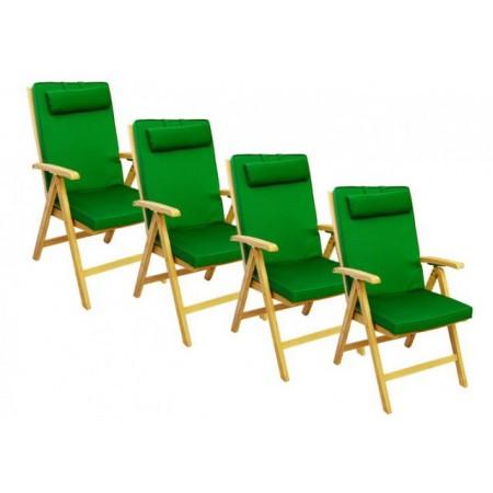 4 x extra silné polstrování na židli, snímatelný potah, zelená
