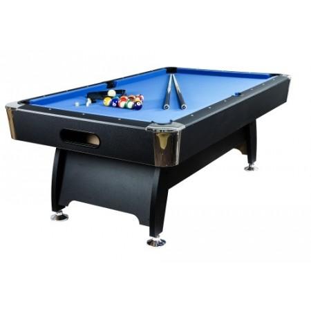 Kulečník / billiard 7 ft, modrý, 214x122x82 cm