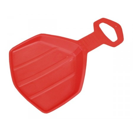 Dětská platová sáňkovací lopata - červená