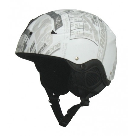 Snowboardová a lyžařská helma - bílá s potiskem, vel. XS