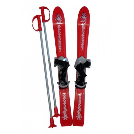 Plastové lyže pro nejmenší děti, červené