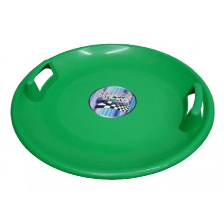 Dětský sáňkovací talíř s úchyty, zelený