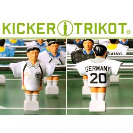 11 ks fotbalové dresy pro figurky stolního fotbalu, Německo