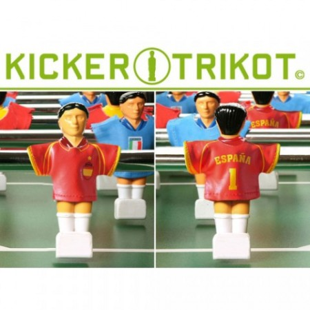 Fotbalové dresy pro figurky stolního fotbalu - Španělsko