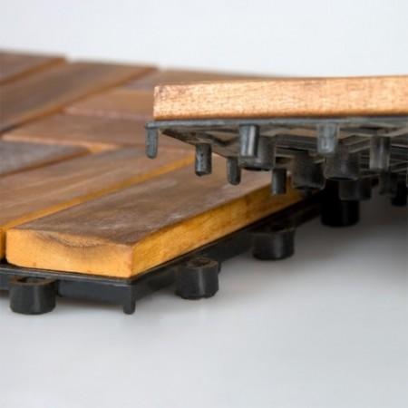 Terasová dlaždice z akátového dřeva, 30 x 30 x 2,4 cm