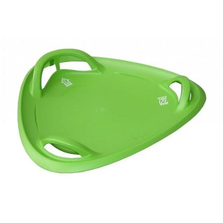 Sáňkovací talíř, nosnost 80 kg, zelený