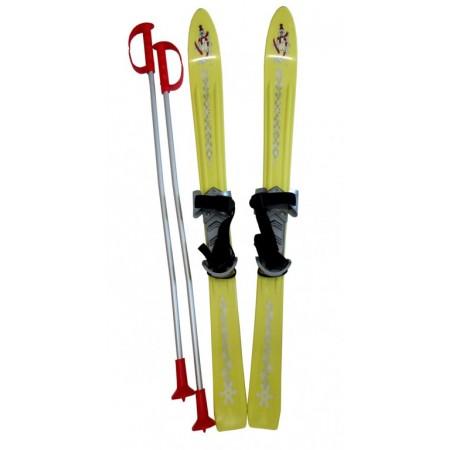 Dětské plastové lyže 90 cm, žluté