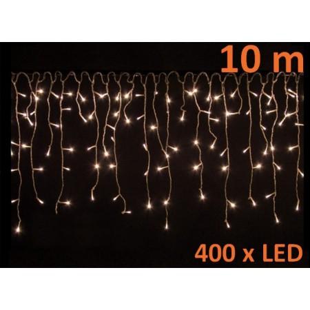 Světelný déšť venkovní / vnitřní, teple bílá, 400 LED, 10m