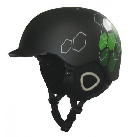 Helma na lyže a snowboard s kšiltem, vyjímatelné polstrování, vel. S