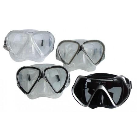 Potápěčské brýle silikonové - tvrzené sklo, junior / senior