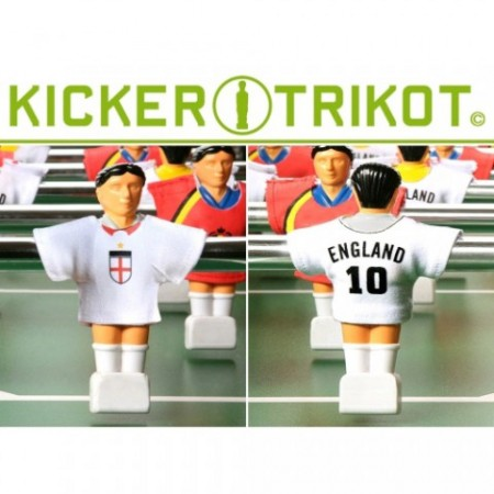 Dresy na figurky pro stolní fotbal, Anglie, 11 ks