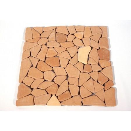 Obklad / dlažba mozaika červená / terakota, 1 m2