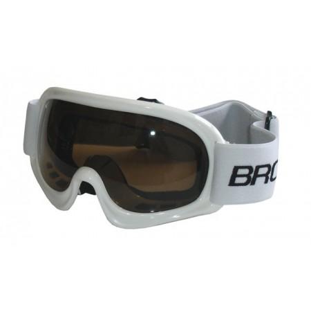 Dětské lyžařské brýle s UV filtrem, bílé