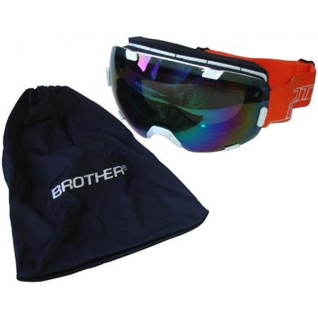 Seniorské lyžařské brýle s velkým zorníkem, bílé