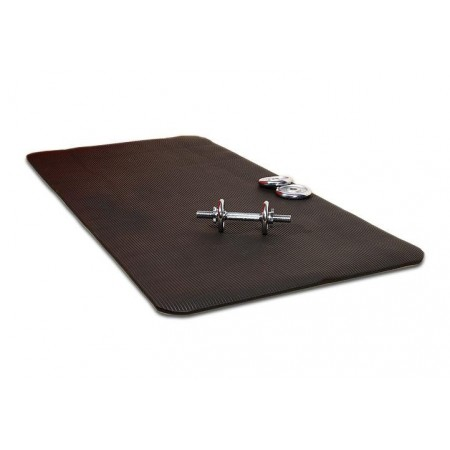 Rolovací podložka na aerobik a cvičení, 190 x 102 x 1,5 cm, černá