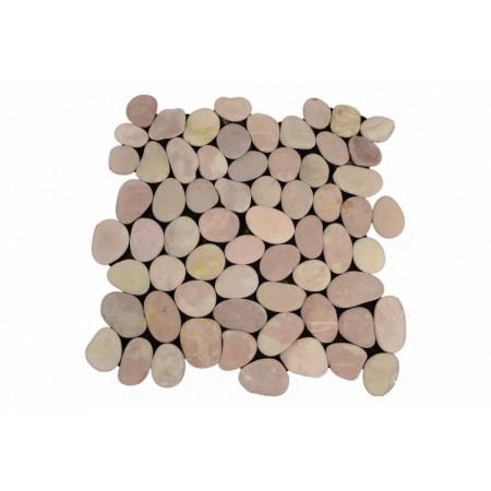Obklad / dlažba - mozaika z říčních oblázků, 1 m2