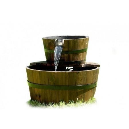 Zahradní kašna - fontána s tekoucí vodou, 2 vědra