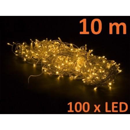 LED světelný řetěz venkovní / vnitřní, teple bílá, 10 m