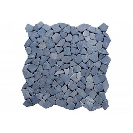 Obklad / dlažba - mozaika z leštěného mramoru šedá, 1 m2