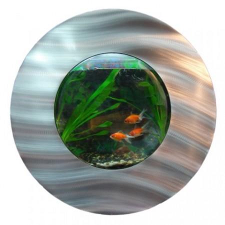 Kruhové designové nástěnné akvárium, průměr 56 cm