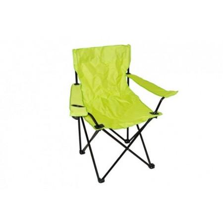 Skládací kempinková židle, světle zelená, 85 x 50 x 85 cm