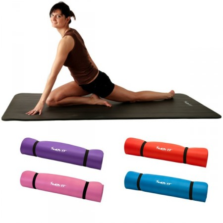 Pěnová gymnastická podložka na jógu a cvičení 190x100x1,5 cm, šedá