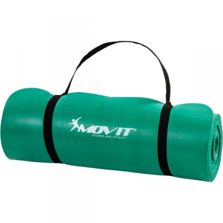 Podložka na jógu a cvičení, tloušťka 15 mm, zelená