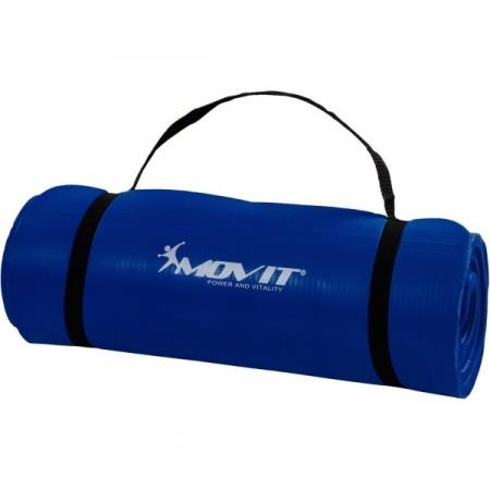 Podložka na jógu a cvičení, tloušťka 15 mm, modrá