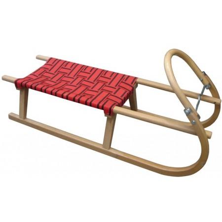 Dětské dřevěné sáňky, kovové lyžiny, 110 cm