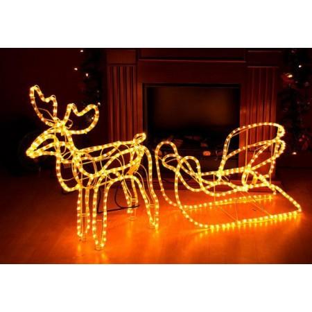 Svítící vánoční sob - světelná dekorace, 122cm