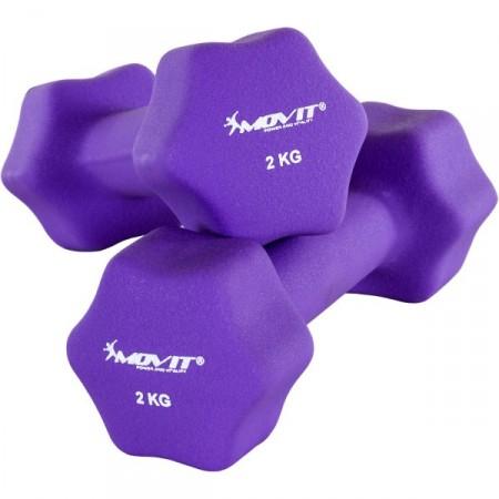 2 fitness šestiúhelníkové činky s neoprenovým potahem 2 kg